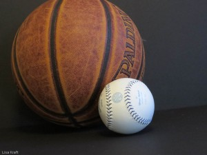 Basketball and baseball