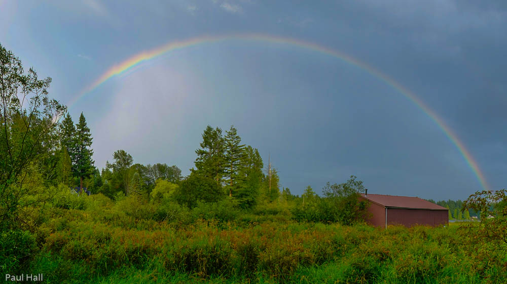 Rainbow over Cottage Lake